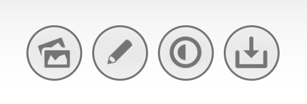 The round blurred buttons